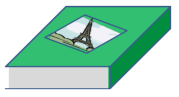 Fig. 1: If you put a sheet of paper on the back of a book, and drop them together, you'll find they fall at the same rate --- because the book prevents air getting underneath the paper, thereby removing the effect of air resistance, and allowing gravity alone to act on the paper.